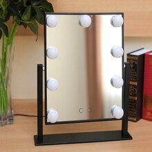 Стол Косметическое зеркало С свет лампы профессиональный красота HD расческой с подсветкой для макияжа