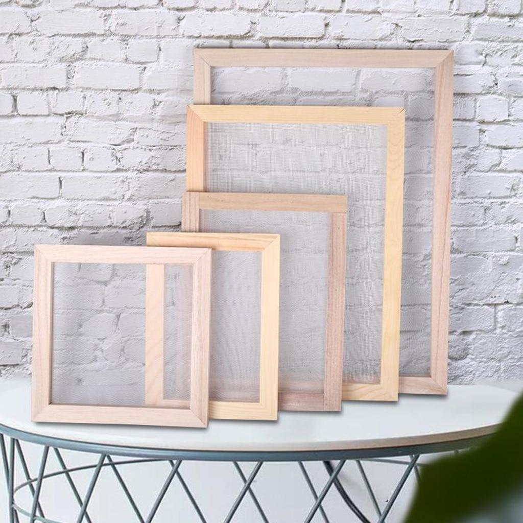 Ретро Набор для изготовления бумаги, рамка для экрана, сделай сам, сушеные цветы, художественные поделки, ручная работа
