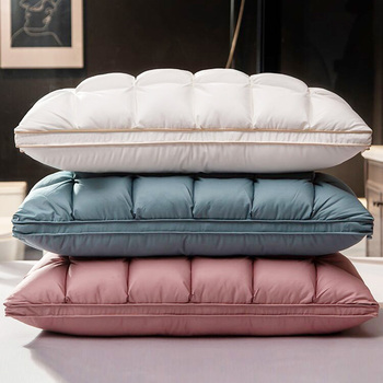 Peter Khanun 3D Bread Goose Down and Feather Bed Pillows for Sleeping 100% Cotton Cover with Natural Filling King Queen Size 016 athenaegis 600g white goose down filling can be spliced mummy ultra light goose down sleeping bag