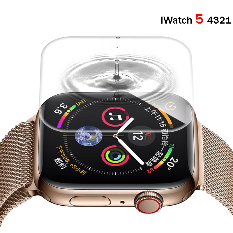 Strap For Apple Watch Band 44 Mm 40mm Correa Iwatch Band 42mm 38 Mm 10D HD Screen Protector Film Apple Watch 5 4 3 2 1