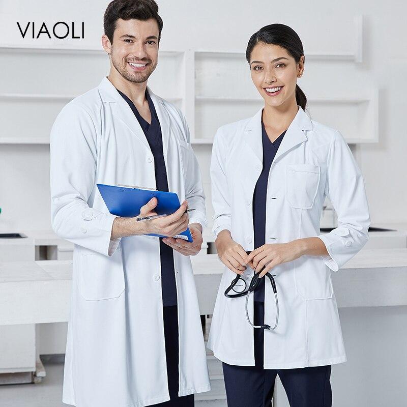 Wholesale Medical Uniforms Clothes Spot White Coats Medical Spa Hospital Gown Lab Coat Nurse Scrub Uniform Pharmacy Veterinary