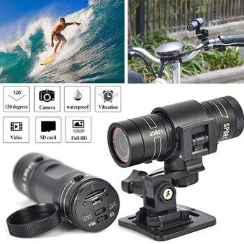 цена на Mini F9 HD 1080P Bike Motorcycle Helmet Sport Camera Video Recorder DV Camcorder Mini Camera Motorcycle Helmet Action DVR Video