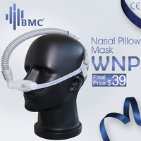 BMC WNP Nasal Pillow CPAP Mask Silicone Gel SML Size Cushion All In Medical Sleep Mask For Snoring And Apnea Treatment With belt