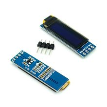"10 pçs/lote 0.91 polegada 12832 branco e azul cor 128x32 oled lcd display led módulo 0.91 ""iic comunicar"