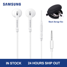 Słuchawki przewodowe Samsung EG920 biały czarny z wtyczką douszną 3.5mm mikrofon z głośnikiem słuchawki do xiaomi Huawei