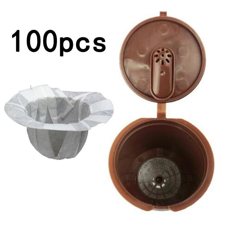 100 * фильтры для кофе, бумажные стаканчики, сменные одноразовые фильтры, K стаканчик для Keurig 33*41 мм, фильтровальная бумага для кофе