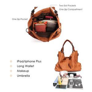 Image 3 - CEZIRA sacs à main en cuir Pu Hobos pour femmes, grands sacs de bonne qualité, sacs à épaule solide de poche, fourre tout pour dames