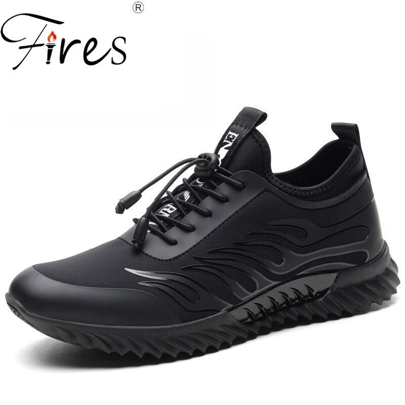 Confortable chaussures légères décontractées noir impression chaussures de loisir à la mode marque en plein air respirant sport tendance chaussures de haute qualité