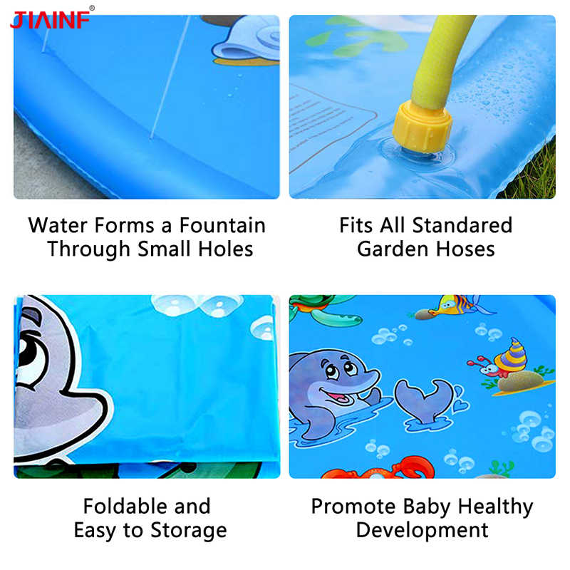 Inflatable Sprinkler เบาะกลางแจ้ง Splash Pad ของเล่นเด็กทารกเด็กฤดูร้อนฤดูร้อน GARDEN PARTY Play MAT น้ำ plaything