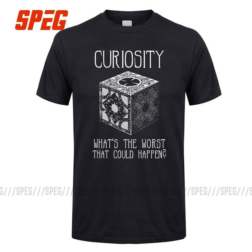 Curiosity Killed Hellraiser Puzzle Box Men Tee Shirts 100% Cotton Short Sleeve Tshirts Great Discount Men's Round Neck T Shirts