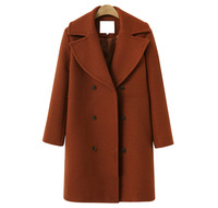 Пальто женский шерстяной Смеси пальто 2019 осенние и зимние элегантные женские двубортный плащ повседневное шерстяное пальто