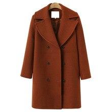 Coat ladies wool blend coat 2019 autumn and winter elegant w