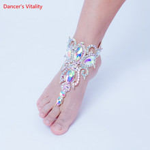 Belly Dance Hand Accessories Or Foot Accessories Female Adult High-end Diamond-Studded Bracelet/Anklet Performance Accessories