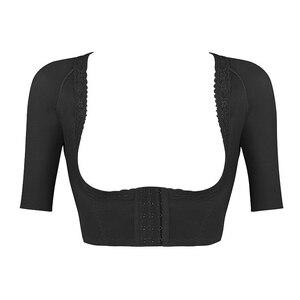 Image 4 - Burvogue Shaper Push Up Short Sleeve Sexy Crop Tops Slimming Control Arm Shapewear One piece Shaper Fashion Women Body Shaper