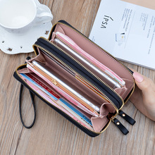 Wallet WOMEN'S Wallet Long Fashion Large Capacity Double Layer Wallet Mobile Phone Bag Double Zipper Carrying Card package 2020