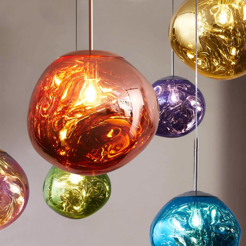 Modern Lava Pendant Lights Melt Pendant Lamp Home Decoration Hanglamp Bedroom Bedside Pendant lighting Living Room Indoor Lights