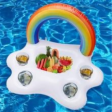 Надувной поплавок для бассейна, охладитель пива, настольная подставка для бара, Пляжное кольцо для плавания, летнее праздвечерние чное ведр...