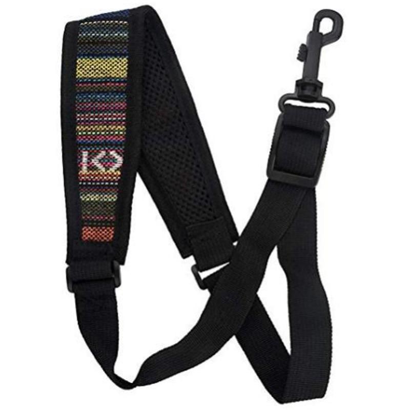 Saxophone Strap, Adjustable Single Shoulder Sax Strap Portable Cotton Neck Sax Strap(Folk Style)