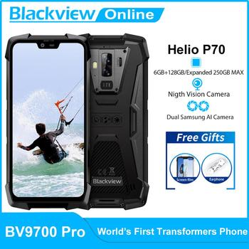 Blackview BV9700 Pro IP68 Waterproof Rugged Mobile Phone Helio P70 Octa Core 6GB+128GB Outdoor Cellphone 16MP+8MP 4G Smartphone