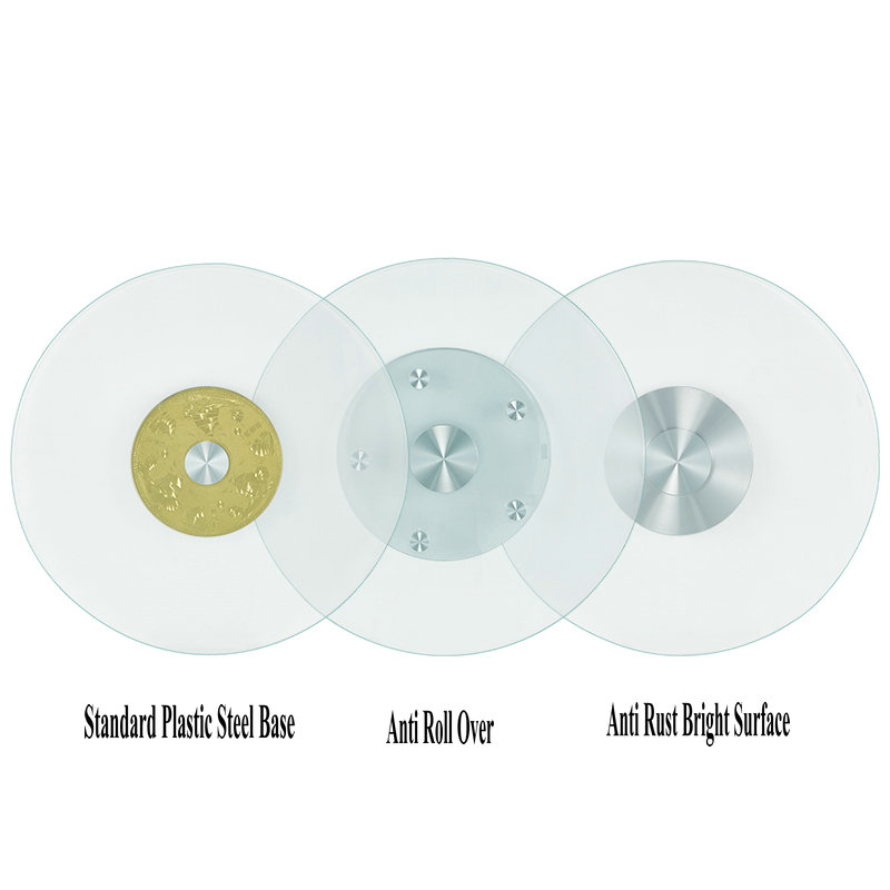 HQ AA01 UPGRADE Stable Tempered Glass Lazy Susan Glass Dining Table Top Turntable Swivel Plate