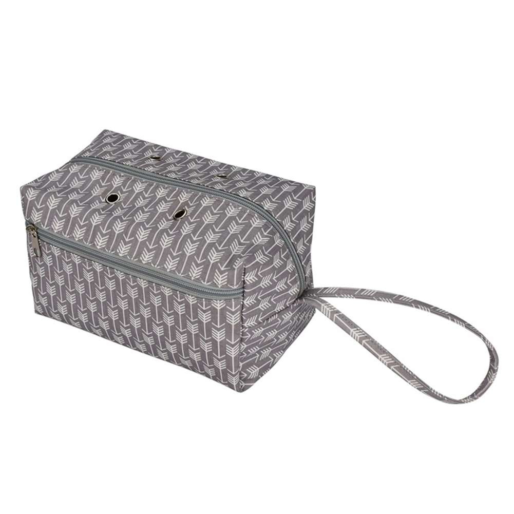 Crocheting Tool Grommet Box Home Knitting Organizer Travel Portable Tote Cotton Zipper Yarn Holder Divider Storage Bag Sewing,China,L
