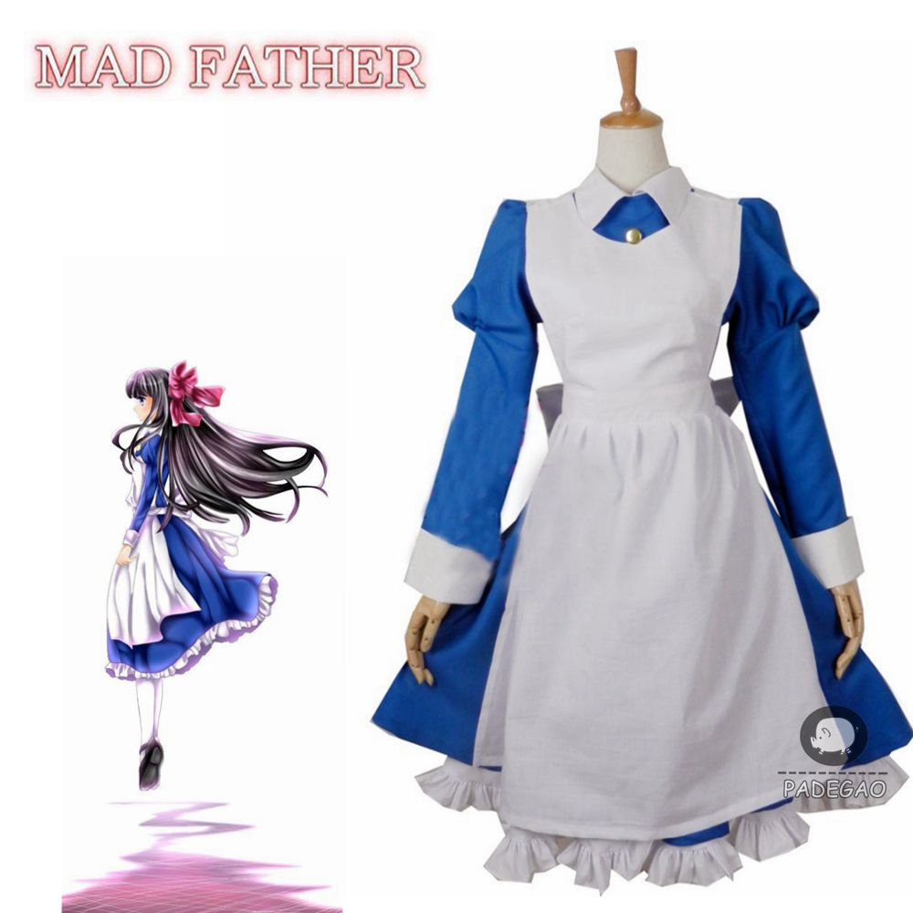 Anime Mad Father Aya Drevis Dress Cosplay Costume Halloween Uniform Outfit Custom Size
