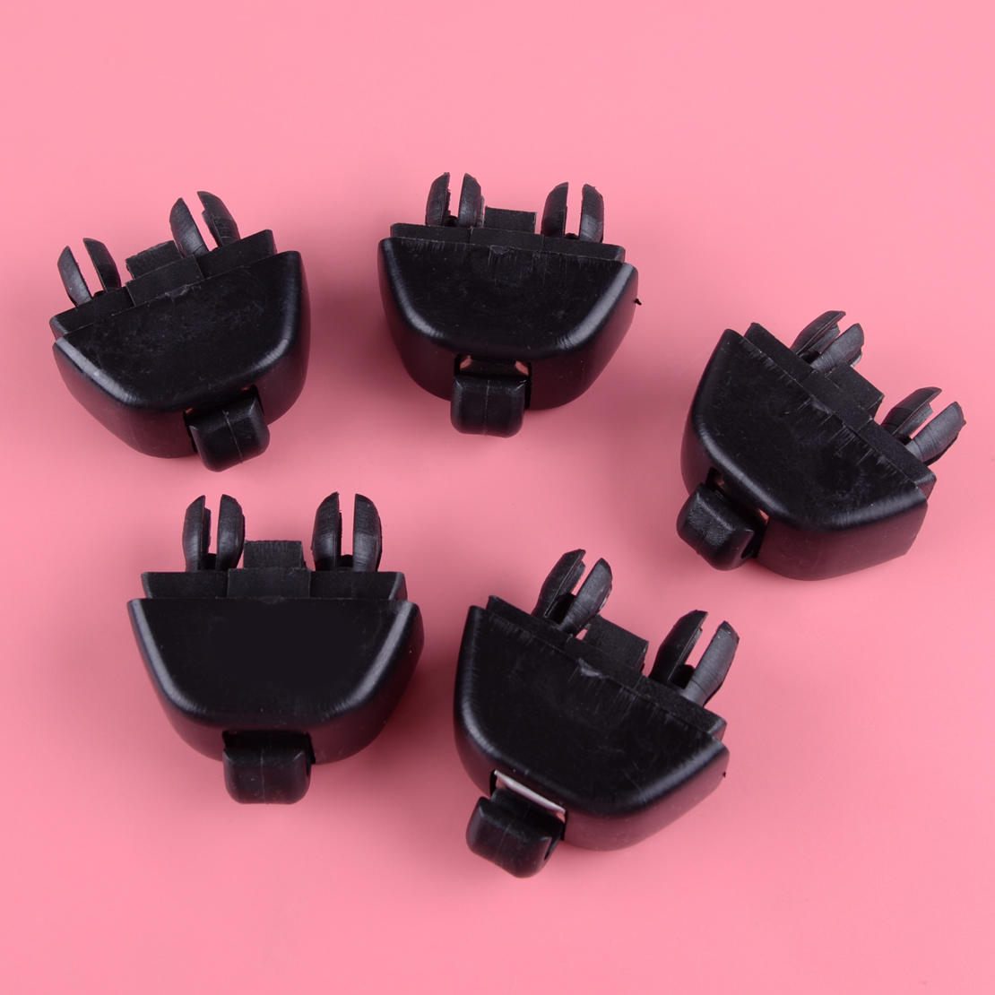 DWCX 5Pcs Car Inner Sun Visor Hook Clip Black 4F0857561 Fit for Audi A6 C6 2004 2005 2006 2007 2008 2009 2010 2011 image