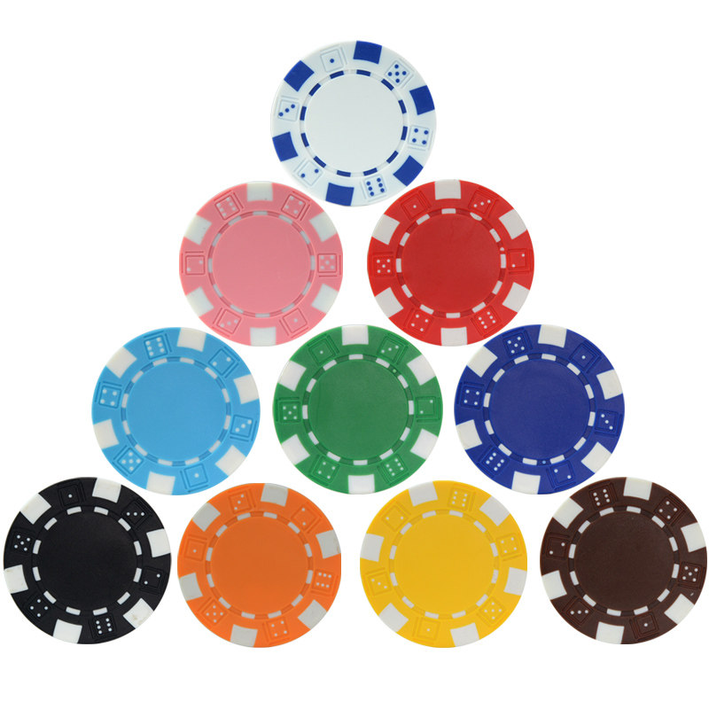 10 Pcs Casino ABS Poker Chips Iron Clay Texas Hold'em Poker Metal Coins Black Jack Chips Set Poker Accessories Factory Wholesale