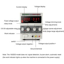 Regulated Power Supply New 1502DD+ 15V 2A AC to DC 15W Adjustable Current for Mobile Phone Repair Power Test
