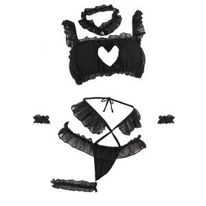 Image 5 - ملابس داخلية مثيرة Kawaii خادمة الدانتيل زي بيبي دول المثيرة موحدة الجنس المنتج تأثيري الملابس العميق الخامس الرقبة إغراء كيتي