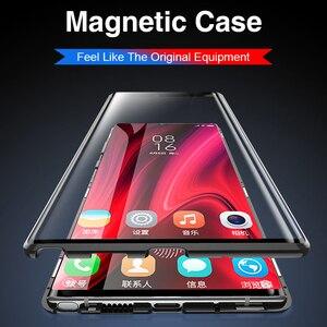 Image 2 - ספיחה מגנטית Flip טלפון מקרה עבור שיאו mi MI A3 10 פרו 9 לייט 9 אור Mi 10 360 בחזרה כיסוי על Xio mi אדום mi הערה 9s 9 8T 8 פרו