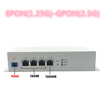 Industrial grade outdoor metal ONU 1GE+3FE ONU EPON 1.25G GPON 2.5G ONU with FTTH NETWORK onu wifi modem 10/100/1000M RJ45 OLT