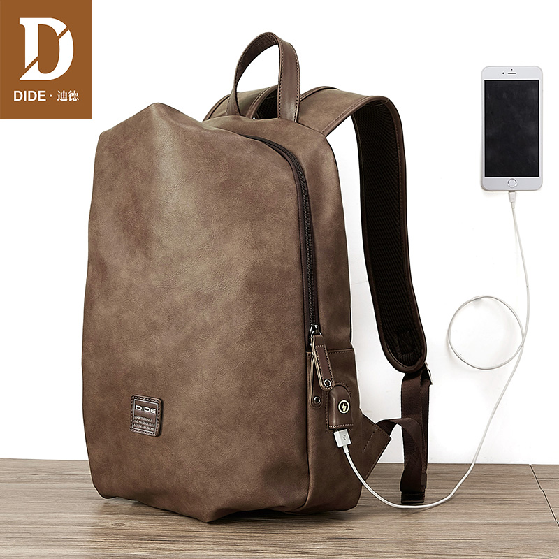 DIDE 14 15 inch Backpack Bag Men USB Charging Laptop Backpacks For Male Schoolbag Casual Travel