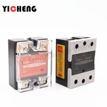 цена на high quality DC control DC Voltage relay Single-phase solid state relay Transparent shell SSR-DD relay control voltage radiator