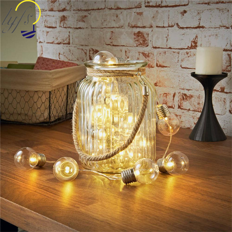 LED G50 Bulb Light String Battery Power Waterproof Festive Atmosphere Fairy Lights String Christmas Wedding Party Decoration