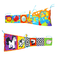 Toys Cloth-Book Baby Bumper-Book Newborn Crib Rattle Knowledge-Around Colorful Infant