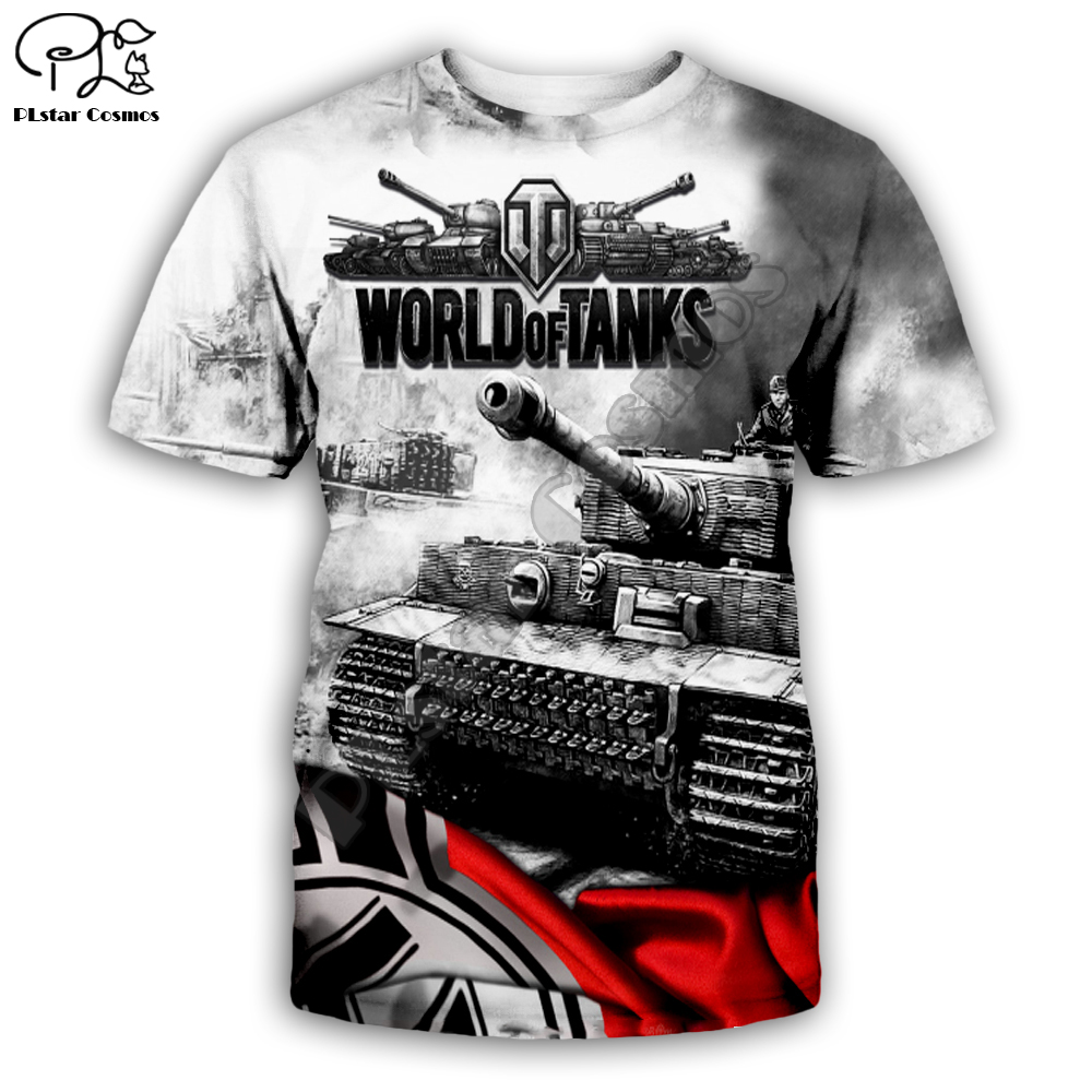 Newest Summer Cool Tops Women/men T Shirt World Of Tanks 3D Printed T-shirts Casual Harajuku Style T-shirt Streetwear Style -005