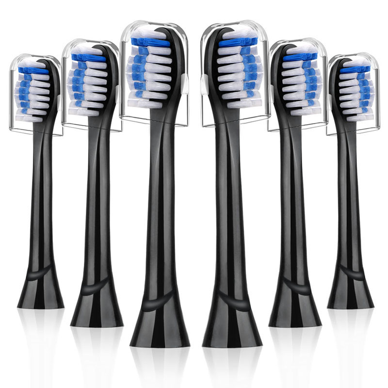 6pcs Black Replacement Brush heads for Phillips Sonicare Compatible with DiamondClean Smart/ProtectiveClean Electric Toothbrush image