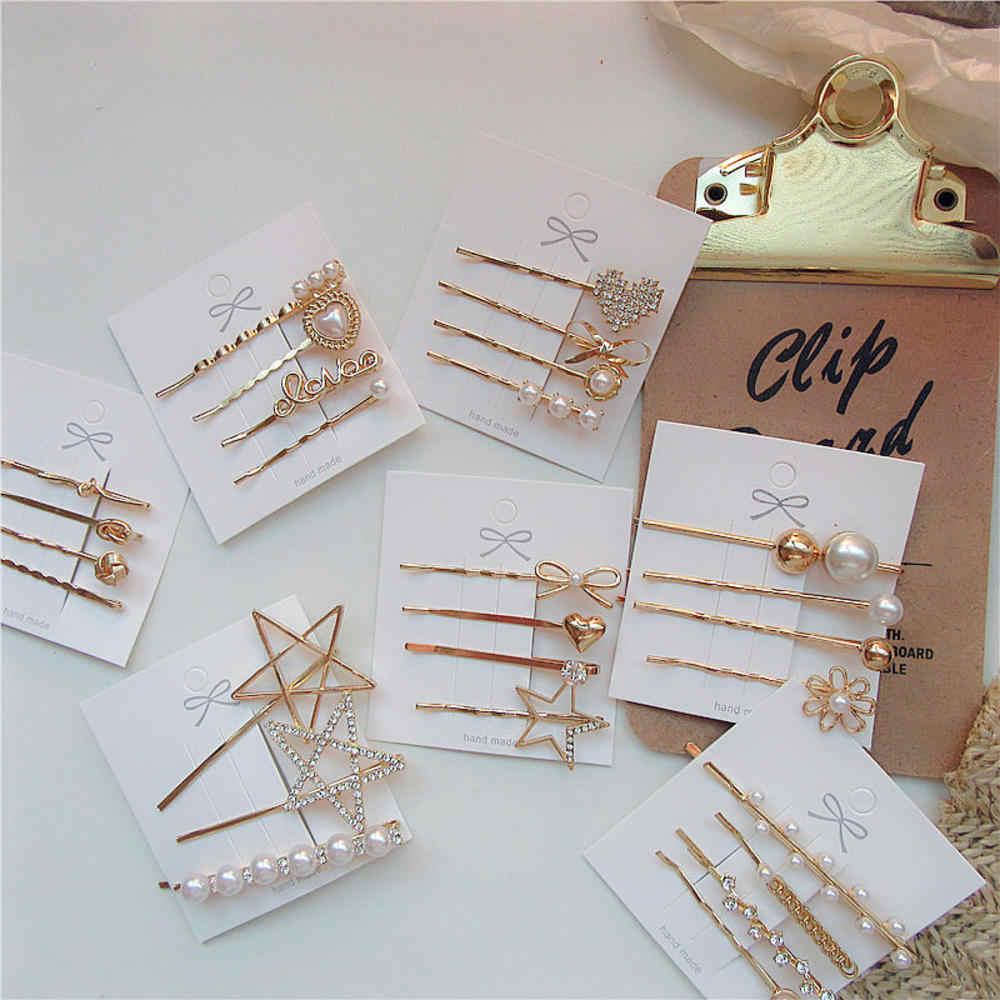 3 pièces/ensemble rétro perle pince à cheveux en métal bandeau peigne épingle à cheveux Barrette épingle à cheveux coiffure accessoires beauté outils de coiffure