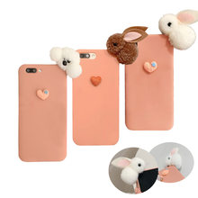 3D Bunny Dog Plush Phone Case for Huawei Honor P20 Lite P30 Pro Mate 20 10 Honor 8X 8A 7A 6C 9X Play 3 Y5 Y6 Y7 Y9 2018 2019 TPU(China)