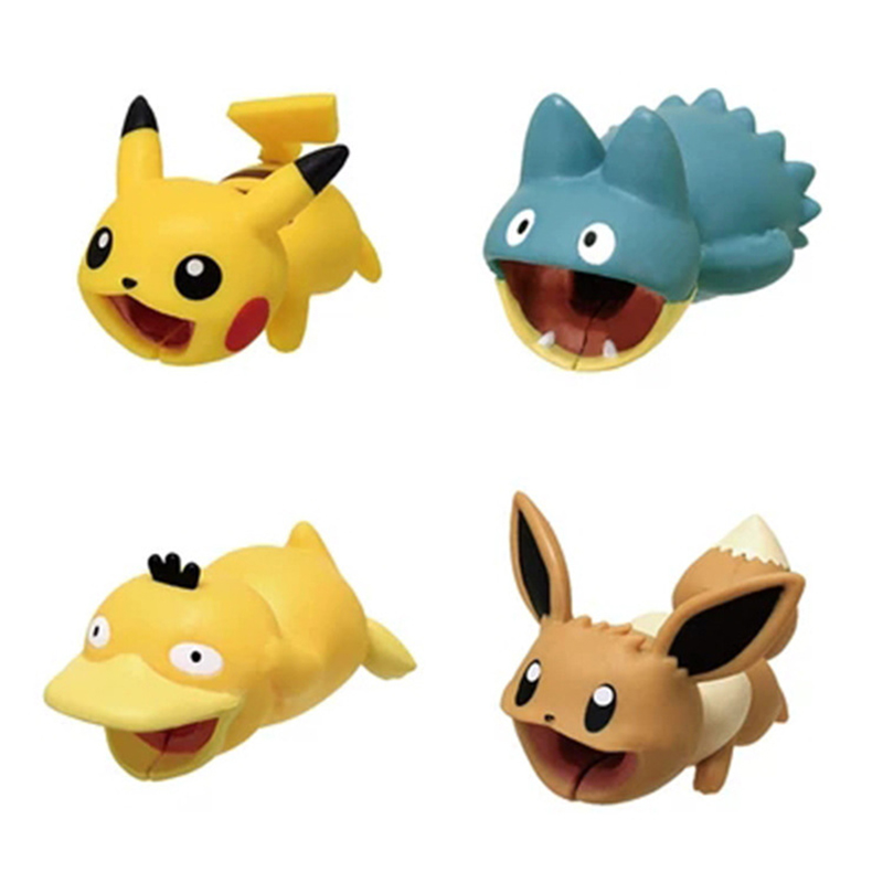 Cute Pokemon Go Cable Protector USB Charging Cable Take A Bite Pikachu Cable Chompers 2