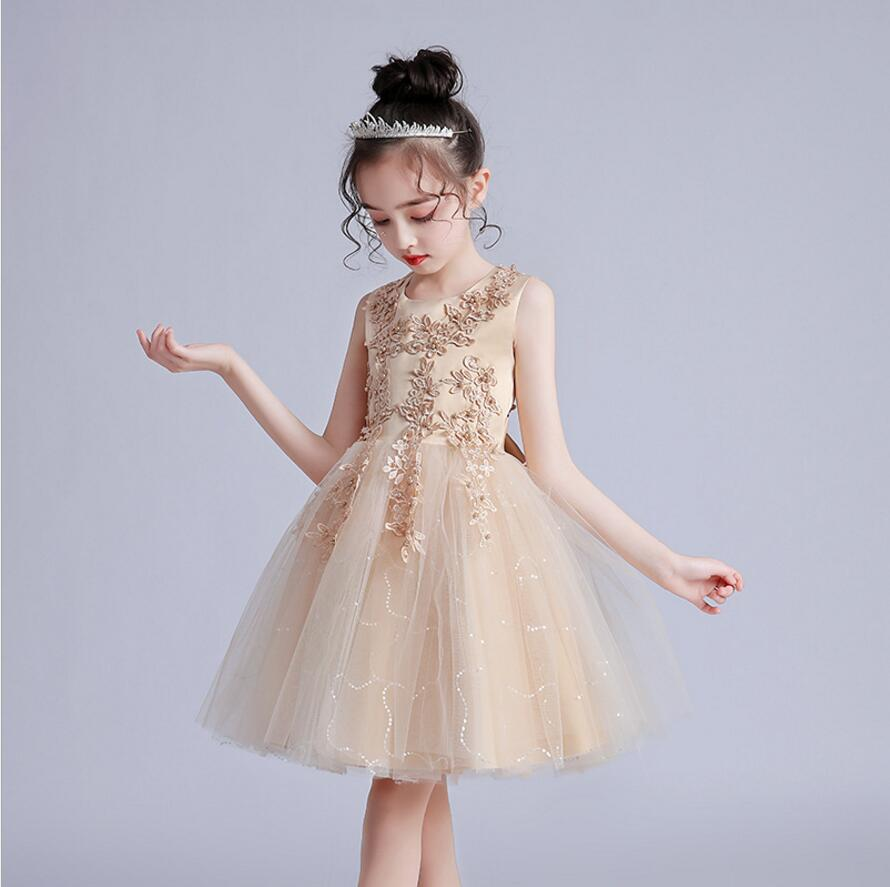 Vestido Infantil Kids Summer Princess Dress Girls Performance Costumes Children Birthday Party School Party Dresses 3-12yrs wear 1