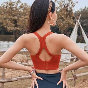 Image 4 - Kadınlar Push Up dikişsiz spor sutyen egzersiz kadın spor üst kırpma spor aktif giyim Yoga spor sutyen kadın spor