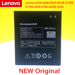 In Stock BL210 Battery For Lenovo A536 A606 S820 S820E A750E A770E A656 A766 A658T S650 Cellphone Bateria+Tracking Number