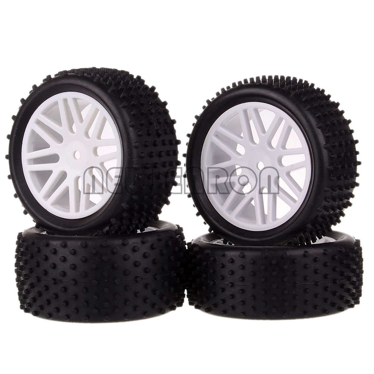 1:10 RC Off Road Buggy Rear Wheel Rim /& Tyre 06026 Tires Fit HSP Himoto Redcat
