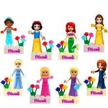 Criador Building Block 8 Pçs/set KATE Princesa MIA OLIVIA STEPHANIE DANCET Bricks Brinquedos Presente Para As Crianças