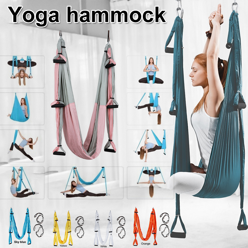 Yoga Swing Aerial Inverted Fitness Non-stretch Hammock Back Inversion Sling Anti Gravity Yoga Hammock
