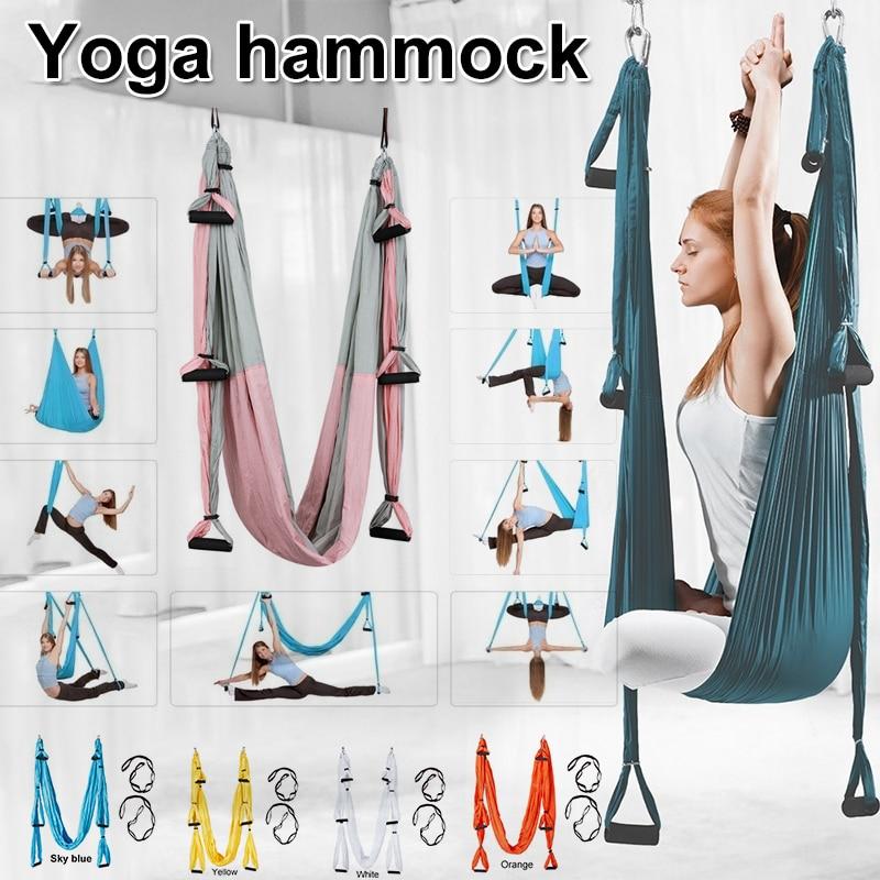Yoga Swing Aerial Inverted Fitness Non-stretch Hammock Back Inversion Sling Anti Gravity Yoga Hammock
