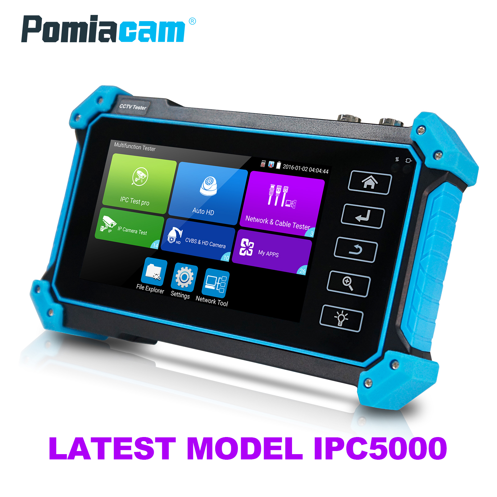 5 Inch Wanglu Coaxial HD CCTV Tester Monitor 8MP AHD TVI CVI IP IPC5000 Plus HDMI VGA Input Analog Test POE DC12V Output