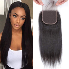 Frontal-Closure Peruvian Hair Remy-Hair Straight 100%Human-Hair Geeta with Lace Pre-Plucked